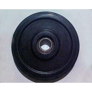 Ролик обрезиненный D165 мм (широкий) в сборе, JU069431