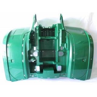Щиток кузова облицовочный задний (зеленый), пластик, JU068330