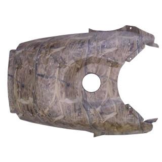 Щиток облицовочный топливного бака (комуфляж коричневый), пластик, LU079740