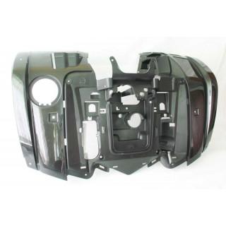 Щиток кузова облицовочный передний (черный), пластик, JU065009
