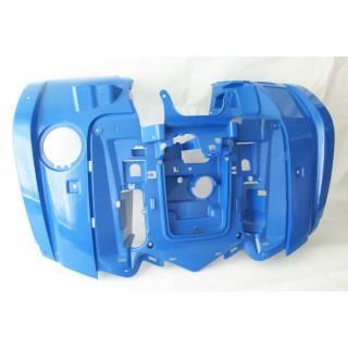 Щиток кузова облицовочный передний (синий), пластик, JU066445