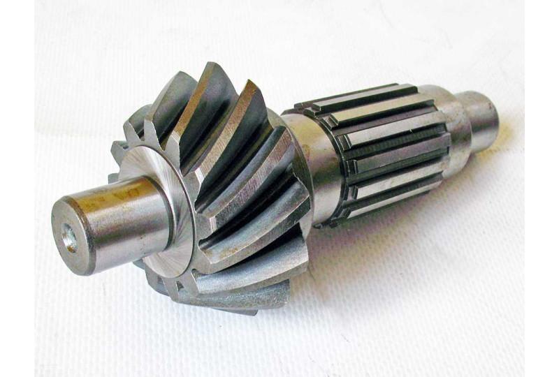 Вал коробки передач с конической шестерней, сталь, LU075247