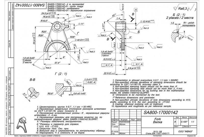 Вилка КПП (II), LU085838