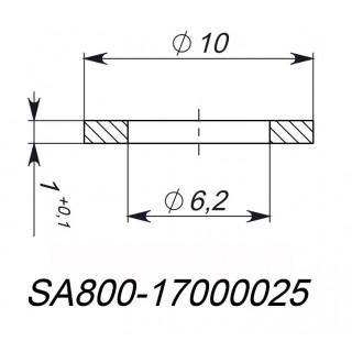 Шайба 6.2x10x1мм, медь, LU085875