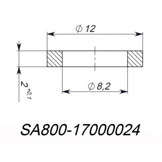 Шайба 8.2x12x2мм, медь, LU085765