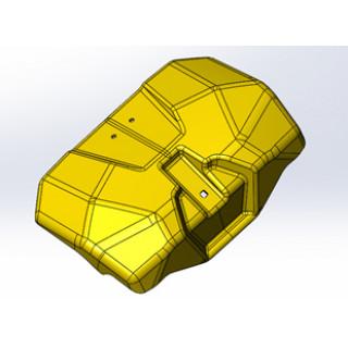 Крышка бардачка, желтый, LU091770