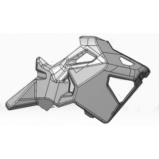 Кожух корпуса правый, черный, JU106599
