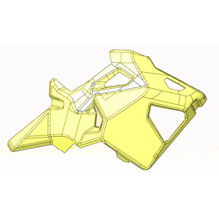 Кожух корпуса правый, желтый, LU091742