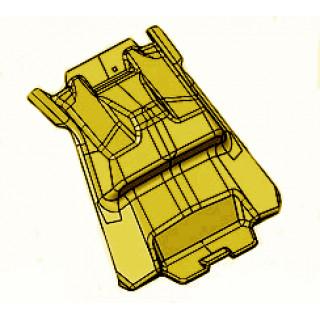 Щиток АКБ задний, желтый, LU091739