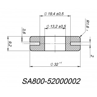 Втулка (Ø13.2хØ32.0х9.2мм), резина, LU092539