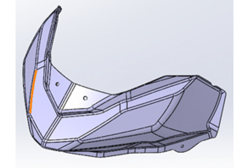 Визор фары, прозрачный (глянцевый), LU091721