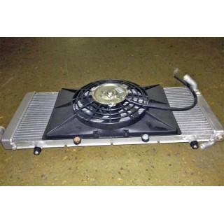 Радиатор жидкостного охлаждения с эл.вентилятором, в сборе, LU049985