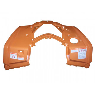 Панель облицовочная кузова верхняя передняя (оранжевый), пластик, JU075949