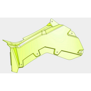 Панель облицовочная кузова боковая правая (черный), пластик, LU069251