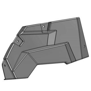 Панель облицовочная двигателя правая (черный), пластик, LU069257