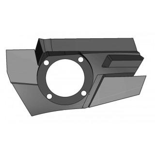 Панель крепления передней блок-фары левая (черный), пластик, LU069245