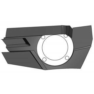 Панель крепления передней блок-фары правая (черный), пластик, LU069244