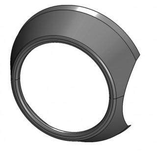 Кожух облицовочный передней правой блок-фары (черный), пластик, LU069292