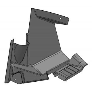 Щиток грязезащитный передний левый (черный), пластик, LU069290