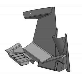 Щиток грязезащитный передний правый (черный), пластик, LU069291