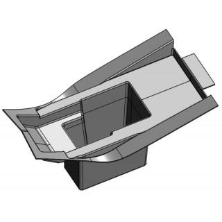 Отсек аккумуляторной батареи (черный), пластик (см.деталь в сборе - JU079368), LU069270