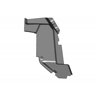 Щиток грязезащитный передний, задняя часть, левый (черный), пластик, LU069283