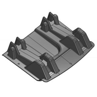 Перегородка топливного бака (черный), пластик, LU069269
